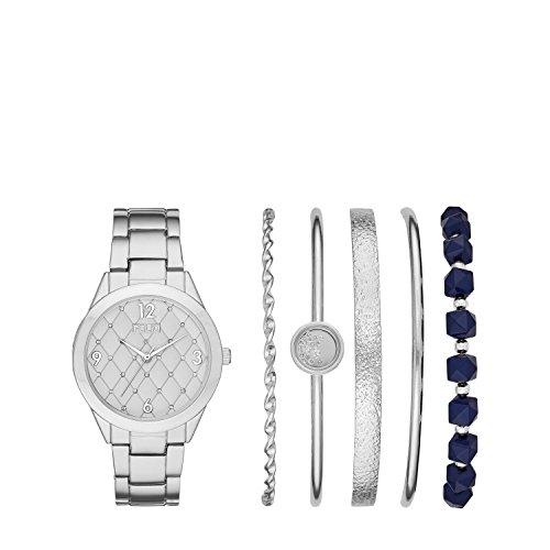 Folio Women s Silver-Tone Alloy Watch Gift Set