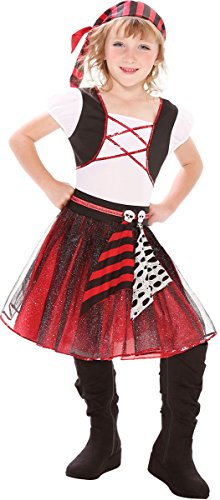 Large Girls Punky Pirate Girl Costume