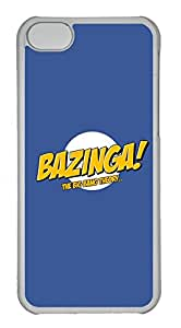 iPhone 5C Case, iPhone 5C Cases - Hihgly Protective Crystal Clear Case Cover for iPhone 5C The Big Bang Theory Bazinga 3 Slim Fit Clear Hard Back Case Bumper for iPhone 5C