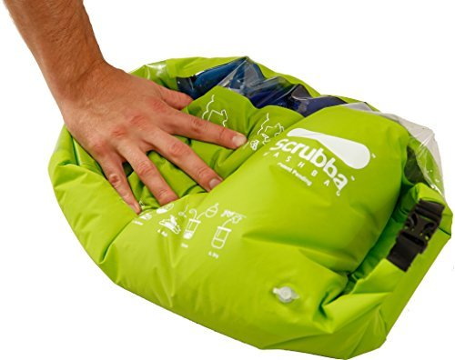 Scrubba Portable Laundry System Wash Bag, Light  Green