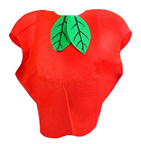 Petitebella Apple Red Costume Set Party Wear Unisex Adult Clothing (One Size) -