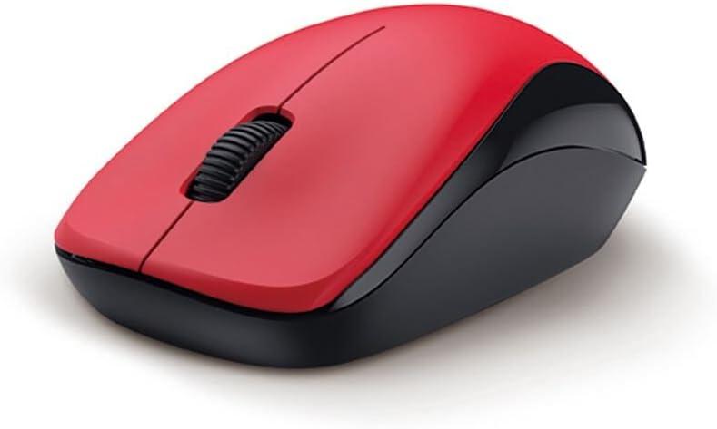 Genius Mouse NX-7000, óptico, 1200 PPP, inalámbrico, Sensor de Ojos Azules, Rojo