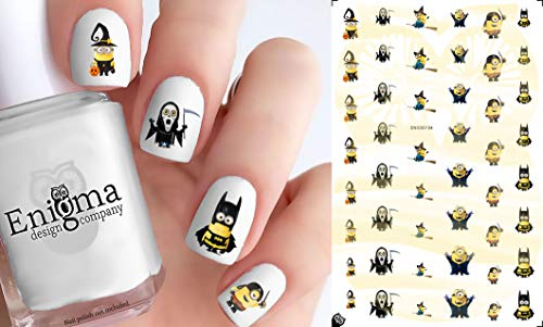 Minions Halloween Accessories (Vinyl Peel & Stick Nail Decals with White)]()