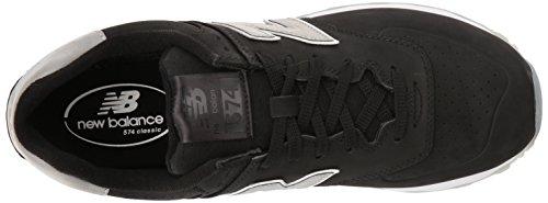 Nouvel Équilibre Mens Ml574 Baskets Pack Représentant Luxe Noir / Noir