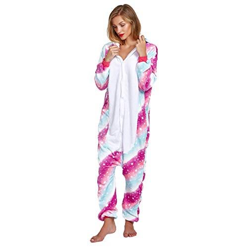 NOUSION Licorne Unisex Adult Pajamas, Cosplay Christmas Unicorn Sleepwear Onesies Outfit (XL, Sky Unicorn New)