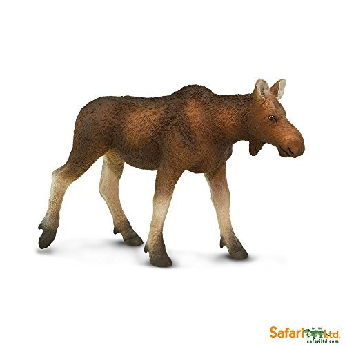 Safari Ltd. North American Wildlife Cow Moose - Realistic Hand Painted Toy Figurine Model - Quality Construction from Phthalate, Lead and BPA Free Materials - For Ages 3 and Up -