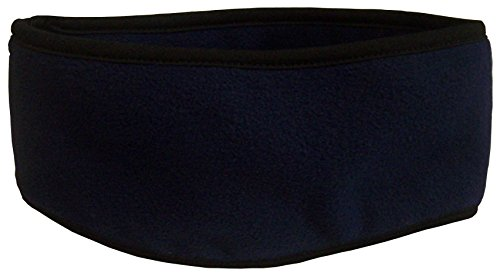 N'Ice Caps Kids 2 Ply Micro Fleece Earlap Headband With Stretch Binding (One size fits 4yrs and up, black)