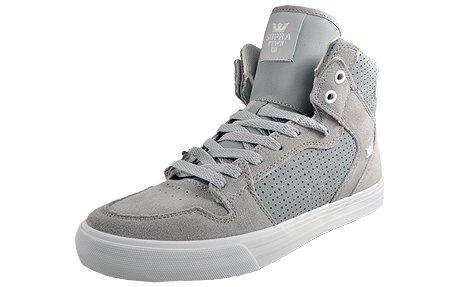 Supra VAIDER - zapatillas deportivas altas de cuero Unisex adulto Light Grey / White