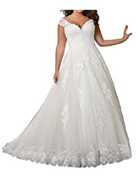 JAEDEN Wedding Dress Lace Bride Dress A Line Wedding Dress for Bride Cap Sleeve Bridal Gown