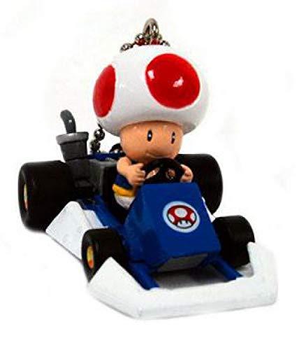Banpresto Super Mario Mario Kart DS Toad Micro Keychain Go-Kart