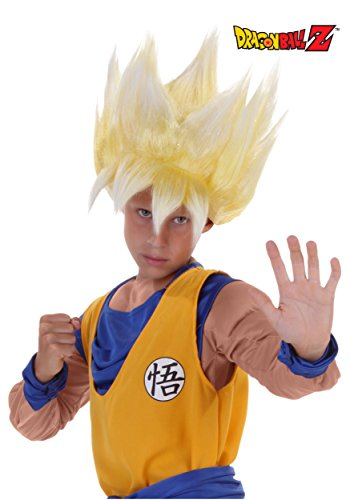 Dragon Ball Costume For Kids (Child Super Saiyan Goku Wig Standard)