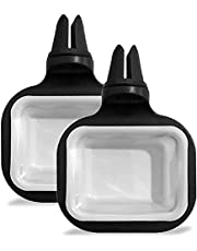 Olixar Sauce Holder for Car Vent, Dip Clip that's Perfect for Using Fast Food Dipping Sauces in Car - Two Pack of Car Dipping Sauce Holders - Black