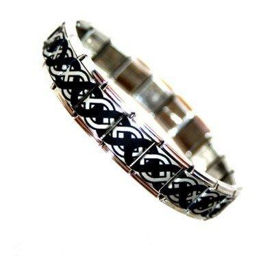 Celtic Knot Stainless Steel Charm Bracelet For Men - Fits Nomination Big Size JSC Jewellery