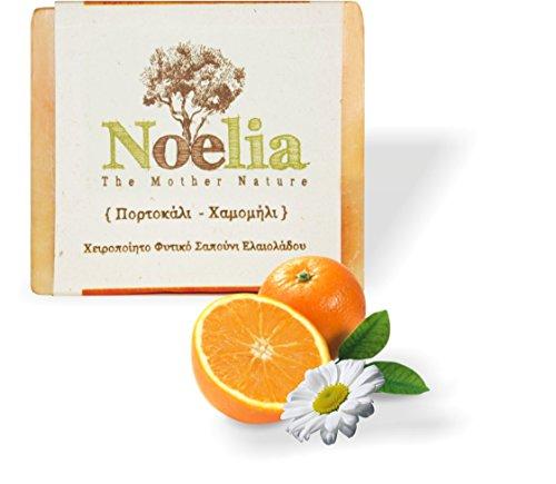 ARISTOS vegane Olivenölseife aus Griechenland mit Orangensaft und Kamillenextrakt für eine empfindliche & unreine Haut (2x 100 g)