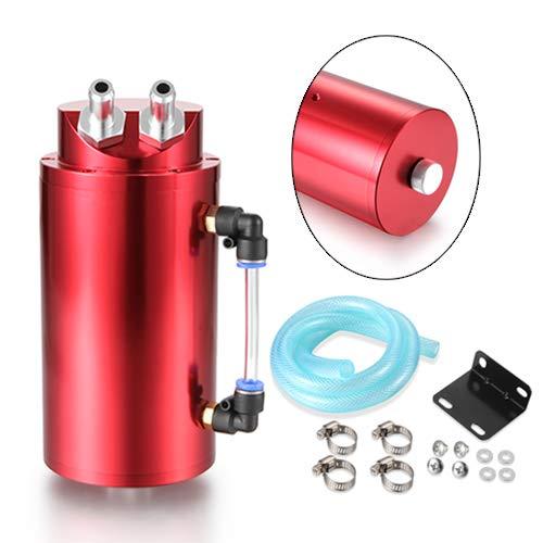 Dromedary Red Aluminum Oil Reservoir Catch Can Tank Kit Breather Filter Baffled