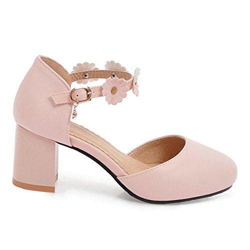 JOJONUNU Soiree Talons Sandales Pink Femmes Bloc 44 azaxO8n