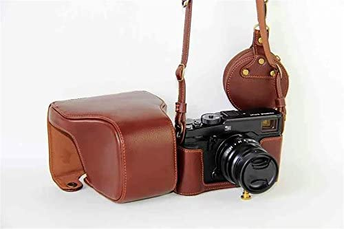 X-Pro2 X-Pro 3 Case Mini Storage Bag Neck Strap BolinuUS Genuine Real Leather Camera Case Bag Cover for Fuji X-Pro2 Fujifilm X Pro2 X-Pro3 XPro3 with XF35mm Lens Bottom Opening Version