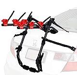 Venzo 3 Bike Rack for Car SUV Universal Carrier - Bicycle Trunk Mount Rear Racks -Sedan, Hatchback, SUV