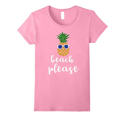 Funny Hawaiian T-shirts (Womens Beach Please Cool Pineapple Funny Hawaiian T-Shirt Small Pink)