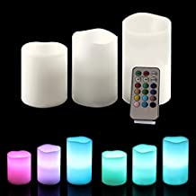 Ohuhu Real Wax Battery Operated Flameless Candles