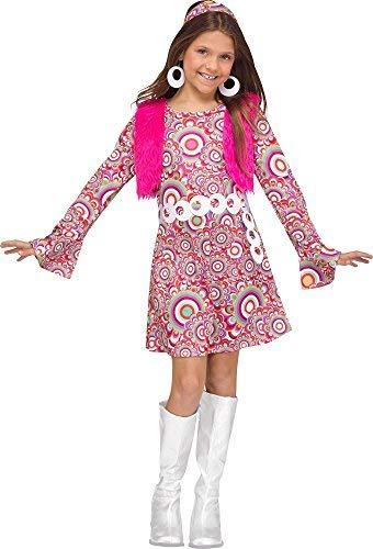 Fun World 1960s Blue Shaggy Chic Child Costume Small 4-6 ()