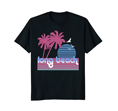Long Beach shirt retro vintage style 80s California gift tee