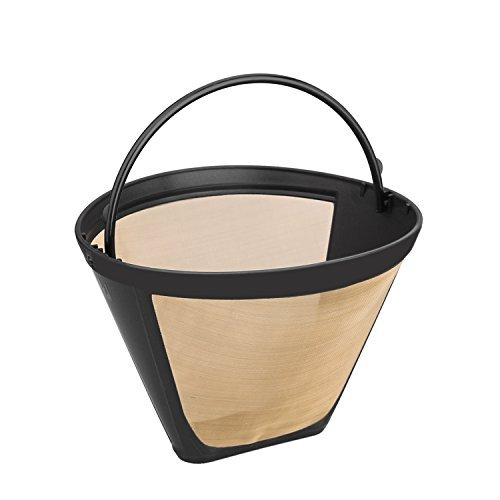 Nicelucky #4 Washable & Reusable Cone Gold Tone Coffee Filter (Coffee Maker Mister Coffee compare prices)