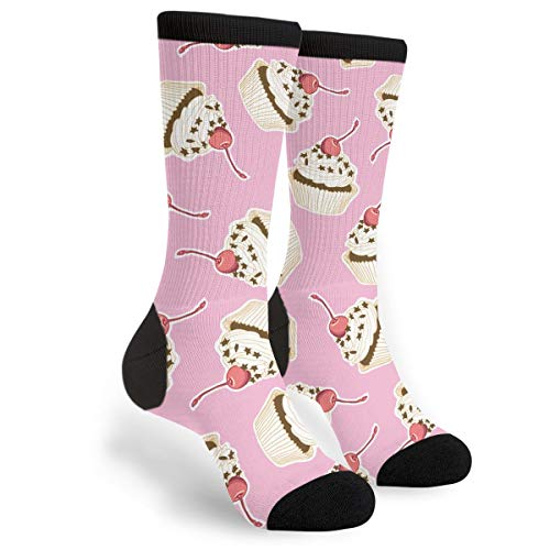 Lovely Cupcake Male Mens Youth Boys Teen Kid Quarter Dress Mid Calf Knee Crew Socks Calf Knit Hosiery Themed Clothing Costume Clothes Dresses Apparel Unisex Ankle]()