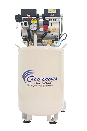 California Air Tools 10010LFDC Ultra Quiet & Oil-Free Industrial 1 hp Steel Tank Air Compressor with Drying System, 10 gallon