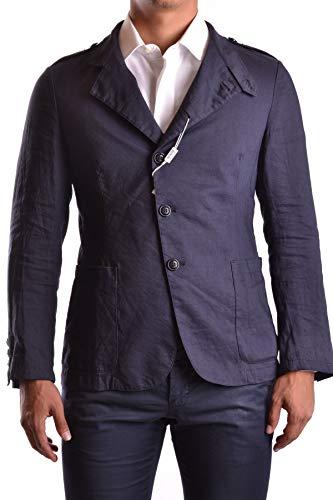 Armani Collezioni Men's Mcbi19103 Blue Cotton Blazer