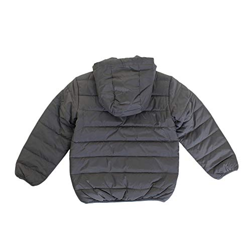 Nike Kids Boy's Quilted Jacket (Little Kids) Dark Gray 5 by Nike (Image #2)