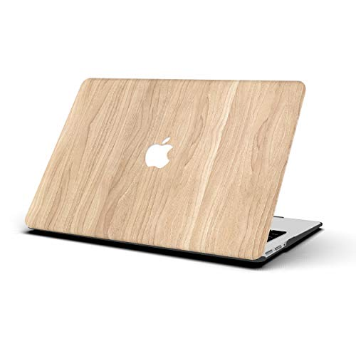 AOGGY Hard Case for MacBook Air 13 inch Model A1369 / A1466 (Older Version 2010-2017) Wooden Leather Case Soft Touch Slim Plastic Hard Protective Cover for Old MacBook Air 13