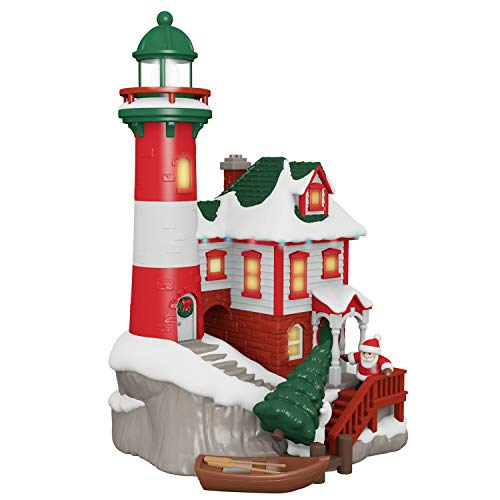 - Hallmark Keepsake Ornaments 2019 Year Dated, Luminous Lighthouse Musical Tabletop Decoration with Light (Plays Christmas is Coming Song)