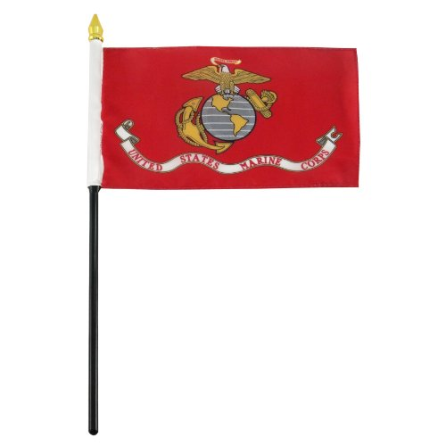 US Flag Store Marine Corps Flag, 4 by 6-Inch