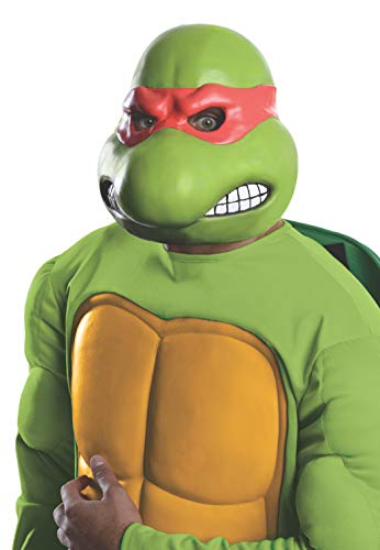 Nickelodeon Teenage Mutant Ninja Turtles Adult Raphael 3/4 Mask, Green, One Size]()