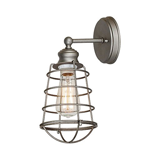 Outside Wall Light Galvanized Finish Modern Design With Metal Wire Shade High Quality - Skroutz