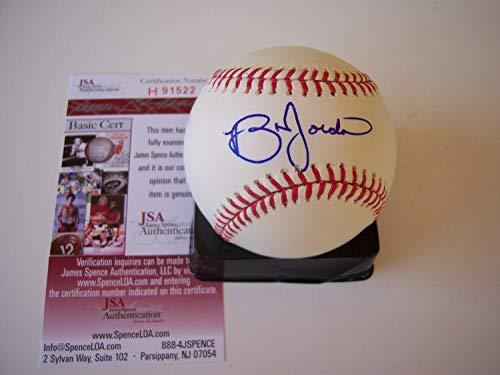 Brian Jordan Atlanta Braves,Cardinals JSA/COA Autographed Signed Baseball