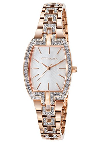 Wittnauer Rose Gold Tone Crystal Watch WN4018 (Wrist Wittnauer Gold Watch)