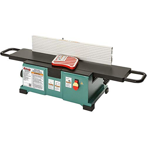 "Grizzly Industrial G0893-6"" Benchtop Jointer with Spiral Cutterhead"