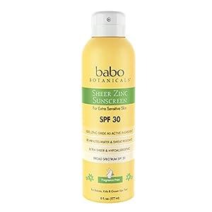 Babo Botanicals Sheer Zinc Natural Continuous Spray Fragrance Free Sunscreen For Sensitive Skin 116