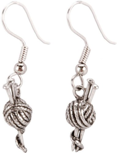 Charming Accents French Wire Earrings-Yarn W/Needles