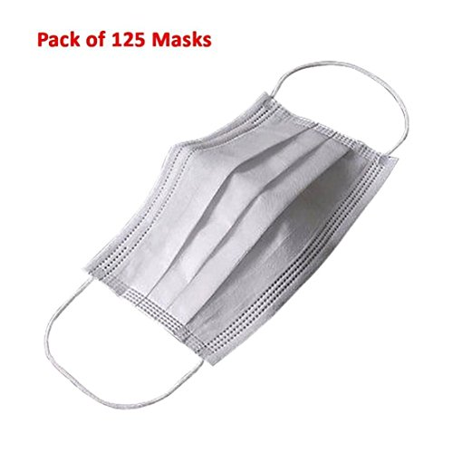 [Coerni Professional 125 PCS/Box Three Layers Disposable Filter Sanitary Medical Earloop Face Masks - Anti-Bacteria, Breathable, Comfortable] (The Goonies Brand Costume)