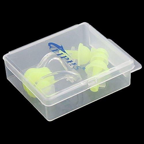 Amazon.com : eDealMax agua de Saltos Deporte de silicona tapones Para Los oídos Clip de la nariz Piscina Protector de la caja w : Sports & Outdoors