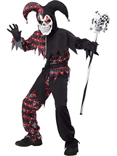 Twister Girl Halloween Costume (California Costumes Sinister Jester Costume, One Color,)