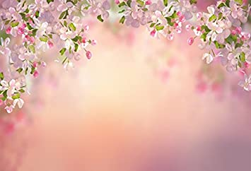 10x6.5ft YomyCeo Digital Backdrops for Photography Bokeh Pink Flowers Background for Wedding
