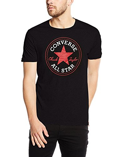 Converse Men's All Star Chuck Taylor T-Shirt Tee (Large, Black)