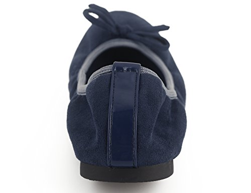 Greatonu Ballerina Blue On Women Comfort Flats Foldable Ballet Shoes Slip ZqRBrZw