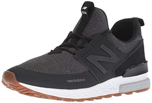 New Balance Men's 574S Sport Sneaker, Black/Magnet, 11.5 D US