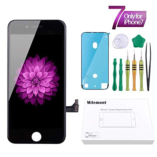 Screen Replacement Compatible iPhone 7 Black 4.7inch Digitizer Repair LCD Replacement Kit Screen Assembly ()