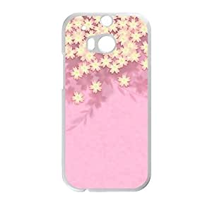 glam pink cute flowers personalized creative custom protective phone case for HTC M8 by Maris's Diaryby Maris's Diary